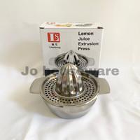 Perasan jeruk alat pemeras jeruk lemon stainless steel diameter 12 cm