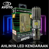 Lampu led motor depan matic/bebek AYOTO M2B Socket H6/T19 pnp AC/DC
