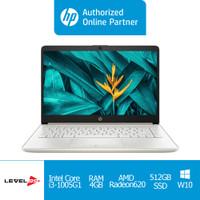 Laptop HP 14s-cf3034TX(1X9M3PA)-i3-10051G1/4GB/512GB SSD+OHS 2019-SILV - Non Screen
