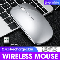 SKU-1236 MOUSE WIRELESS APPLE RECHARGEABLE SILENT KLIK BISA DI CHARGE
