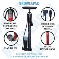 POMPA Angin Tabung Meter PACIFIC 806 Pompa Ban Motor Sepeda Bola