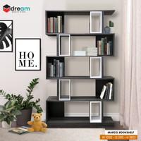 Rak Buku Pembatas Ruangan Modern Minimalis - MARCEL