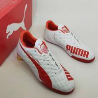 Sepatu futsal puma evospeed putih bahan import / Sepatu futsall murah