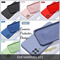 softcase samsung a12 case anti noda silicon bahan lentur cover a12