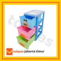Lemari Plastik Lion Star Kabinet Susun 3 Infini Container M 3 IF 3