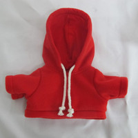 TEDDY HOUSE OUTFIT BEAR T-SHIRT WITH HOOD 12 INCH
