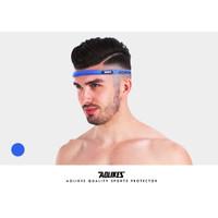 Aolikes 2109 Ikat Kepala menyerap keringat Sports Hair Headband Import - Biru