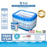 DOCTOR DOLPHIN Baby Swiming Pool / Kolam Spa Bayi Persegi / Baby Spa - Kolam & Pompa