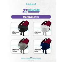Baby Wrap 2in1 Upgrade plus Sashbelt - Instant BabyWrap Bayiku - Marun