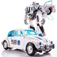 White Bumblebee Transformer Autobot Police Car Deformation YS-03