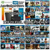 HDD External 2TB + isi game ps4 hen 5.05 Game Terbaru selalu update