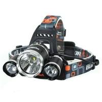 Senter Kepala LED 3 Mata Outdoor HeadLamp Led Head Lamp Charge Camping