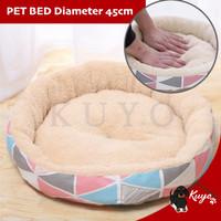 Pet Bed- Tempat Tidur Bulu Alas Kasur Anjing Kucing Bantal Donat Bulat