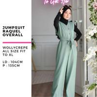 Baju muslim wanita playsuit terbaru raquel overall jumpsuit murah