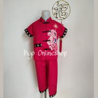 Baju Setelan Cheongsam Imlek Anak Laki Laki (Naga Emas)