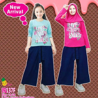 Little Pineapple Setelan Baju Muslim Anak Junior Celana Kulot 137 F