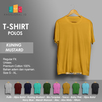 Kaos Polos Baju Pria Kaos Pria Premium Lengan pendek KUNING MUSTARD