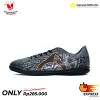 Sepatu Futsal Ortuseight Volt IN Original Ortus - Hitam, 39