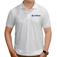 Baju Polo Shirt Airbus Aircraft Kaos Polo Pesawat Airbus