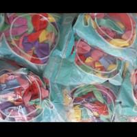 Balon Latex Doff warna Pastel Macaron ( isi 100 pcs ) - Mix Colourfull