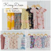 Kimy Dress 0-5 Thn Bahan Premium-Baju Dress Anak Bayi Perempuan