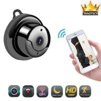 IP kamera v380 mini A1 wifi wireless spy hidden camera cctv 1080p - Hitam, CAMERA ONLY