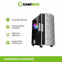 GAMEMAX White Diamond ATX Gaming PC Case