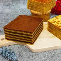 Kue Lapis Legit Ginggang / Coklat 10x10cm