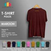Kaos Polos Baju Pria Kaos Pria Premium Lengan pendek MERAH MAROON
