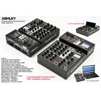 Mixer Ashley StudioPro-6 Reverb 24Dsp Anti Feedback USB Soundcard