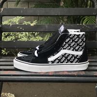 Sepatu Vans Sk8 Hi Logo Repeat Black White Original Resmi PT Navya
