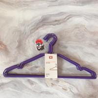 Gantungan Baju Kawat Ungu / Hanger - TOP - isi 10pcs