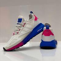 Sepatu Sneakers Adidas ZX 2K Boost White Blue Pink Premium Quality