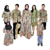 Batik keluarga family motif ulat bulu baju keluarga - Anak cewek, S