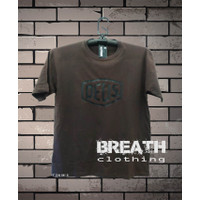 Kaos Cotton Combed 24s Breathe sablon custom Deus Black - Cokelat, S