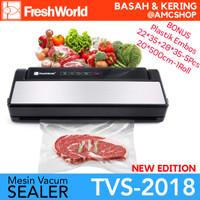 FRESH WORLD TVS-2018 Mesin Vacuum Sealer Komersial Vacum (Bisa Basah)