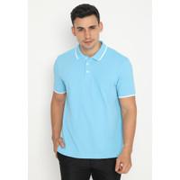 Jack Nicklaus Bianco Polo Shirt Pria Slim Fit Biru