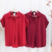 Blouse wanita chinese new year atasan warna merah baju imlek