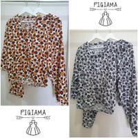 Baju tidur setelan piyama PP wanita rayon- motif macan