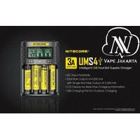 Nitecore UMS4 Intelligent USB Charger Baterai 4 Slot - Authentic