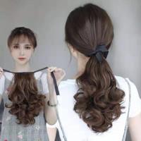 Ponytail pita curly short (30CM) keriting wig hair extension