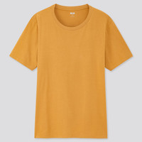 Kaos Uniqlo Supima Cotton Polos Pria Crew Neck T-Shirt Original