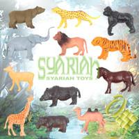 Mainan Set Animal Karet Hewan Kebun Mini Edukatif Binatang 2054