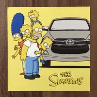 Sticker Toyota Kijang Innova x The Simpsons - Artbox Volume 4