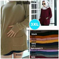 Sweater Rajut Wanita Jumbo Big Size / Atasan Wanita Jumbo A18002