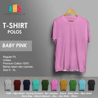 Kaos Polos Baju Pria Kaos Pria Premium Lengan pendek BABY PINK
