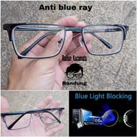 Kacamata pria wanita lensa anti radiasi komputer anti blue ray