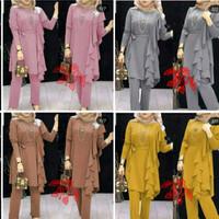 set gamis wanita/set gamis celana/kondangan/baju resmi/baju kantor