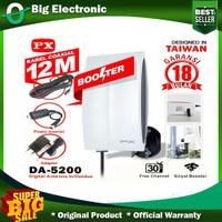 Antena Tv Indoor Outdoor Digital Analog PX DA-5200 Kabel 12m Booster