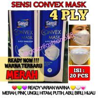 Masker SENSI CONVEX MASK 4 PLY Model EVO 3D Earloop 20 Pcs Original